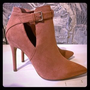 Blush stiletto booties